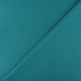 Jersey tubulaire bord-côte - vert paon x 10cm