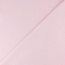 Jersey tubulaire bord-côte - rose pâle x 10cm