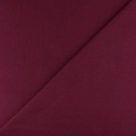 Jersey tubulaire bord-côte - bordeaux x 10cm