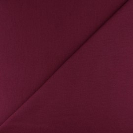 Tubular Jersey fabric - Burgundy x 10cm