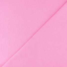 Jersey tubulaire bord-côte - rose x 10cm