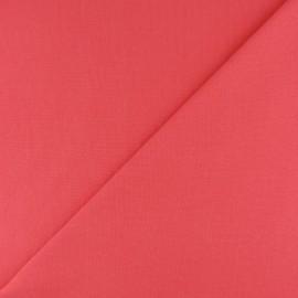 Jersey tubulaire bord-côte - corail x 10cm