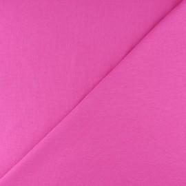 Jersey tubulaire bord-côte - rose bonbon x 10cm