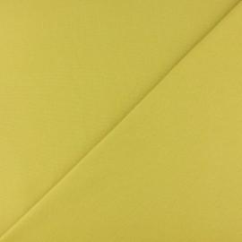 Jersey tubulaire bord-côte - vert citron x 10cm