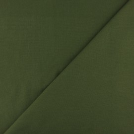 Jersey tubulaire bord-côte - vert pin x 10cm