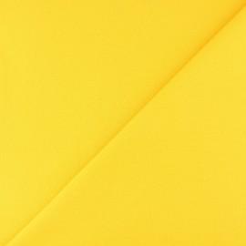 Jersey tubulaire bord-côte - jaune x 10cm