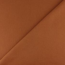 Jersey tubulaire bord-côte - cannelle x 10cm