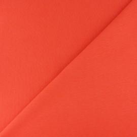 Jersey tubulaire bord-côte - mandarine x 10cm