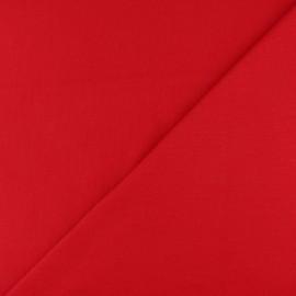 Jersey tubulaire bord-côte - rouge x 10cm