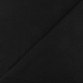 Jersey tubulaire bord-côte - noir x 10cm