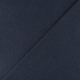 Jersey tubulaire bord-côte - bleu marine chiné x 10cm