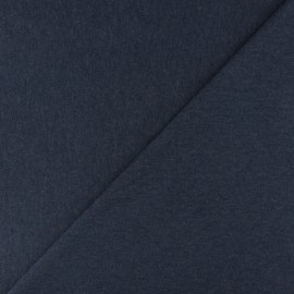 Tubular Jersey fabric - Mottled navy blue x 10cm