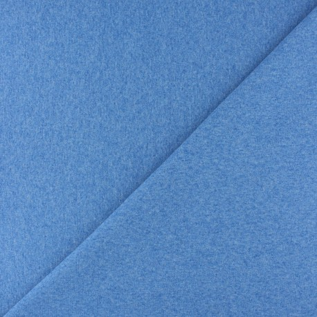 Tubular Jersey fabric - Mottled blue x 10cm