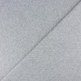 Jersey tubulaire bord-côte - Gris clair chiné x 10cm