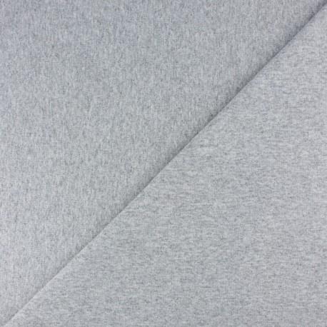 Jersey tubulaire bord-côte - bleu chiné x 10cm