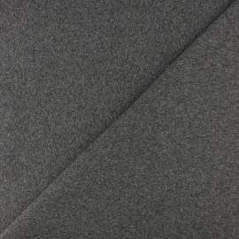 Jersey tubulaire bord-côte - Gris moyen chiné x 10cm