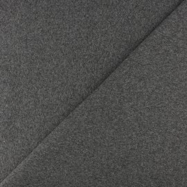Tubular Jersey fabric - Mottled medium grey x 10cm