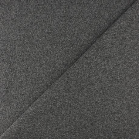 Tubular Jersey fabric - Mottled light grey x 10cm
