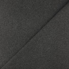 Jersey tubulaire bord-côte - Gris foncé chiné x 10cm