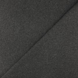 Tubular Jersey fabric - Mottled dark grey x 10cm