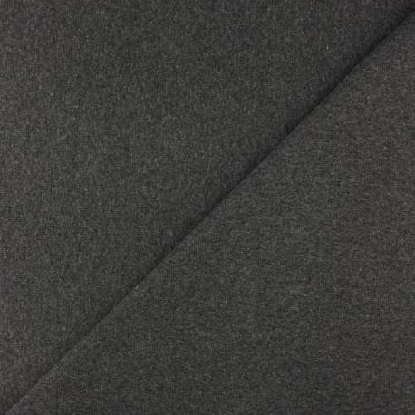 Tubular Jersey fabric - Mottled dark grey x 10cm