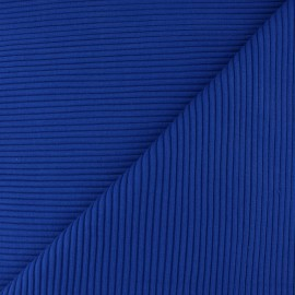 Knitted Jersey 3/3 tubular edging fabric - royal blue x 10 cm