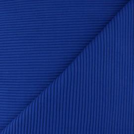 Tissu jersey tubulaire bord-côte 3/3 - bleu royal x 10cm