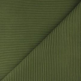 ♥ Coupon 70 cm X 37 cm ♥ Knitted Jersey 3/3 tubular edging fabric - pine green