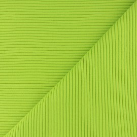 ♥ Coupon 60 cm X 37 cm ♥ Knitted Jersey 3/3 tubular edging fabric - apple green