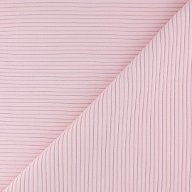 Knitted Jersey 3/3 tubular edging fabric - light pink x 10 cm