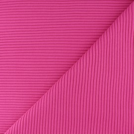 Knitted Jersey 3/3 tubular edging fabric - candy pink x 10 cm