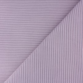 Knitted Jersey 3/3 tubular edging fabric - lilac x 10 cm