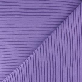 Knitted Jersey 3/3 tubular edging fabric - mauve x 10 cm