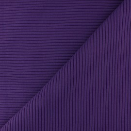 Knitted Jersey 3/3 tubular edging fabric - purple x 10 cm