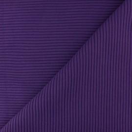 Tissu jersey tubulaire bord-côte 3/3 - violet  x 10cm