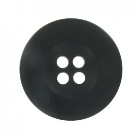 Classic round-shaped button - black