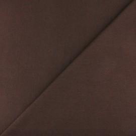 Jersey tubulaire bord-côte - chocolat x 10cm