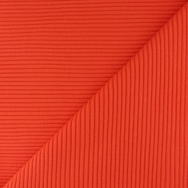 Knitted Jersey 3/3 tubular edging fabric - cinnamon x 10 cm