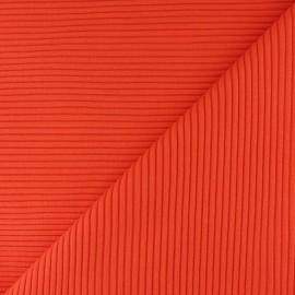 Tissu jersey tubulaire bord-côte 3/3 - cannelle  x 10cm