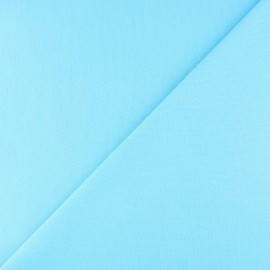Jersey tubulaire bord-côte - bleu aqua x 10cm