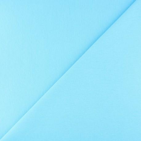 Tubular Jersey fabric - Aqua blue x 10cm