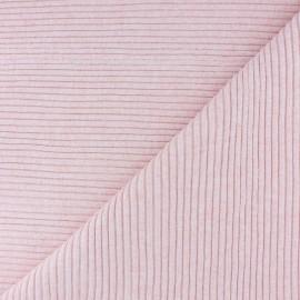Tissu jersey tubulaire bord-côte 3/3 - bleu chiné  x 10cm