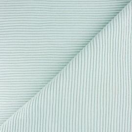 Tissu jersey tubulaire bord-côte 3/3 lurex - vert pastel  x 10cm