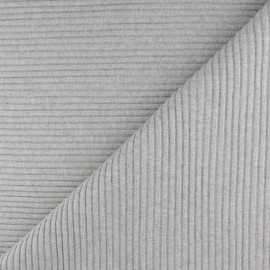 Lurex knitted Jersey 3/3 tubular edging fabric - mottled off white x 10 cm