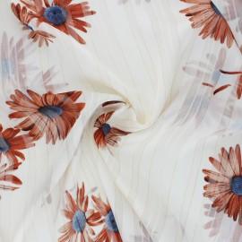 ♥ Coupon 300 cm X 150 cm ♥ Tissu Mousseline lurex Margarita - écru