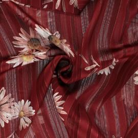 Tissu Mousseline lurex Margarita - rouge x 50cm