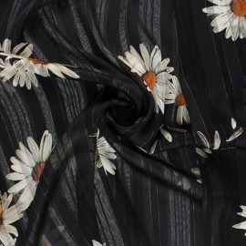 Lurex Muslin fabric - black Margarita x 50cm