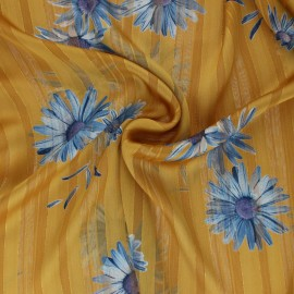 Lurex Muslin fabric - yellow Margarita x 50cm
