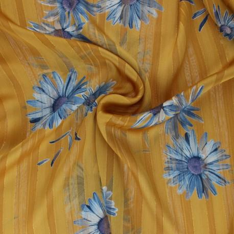Lurex Muslin fabric - raw Margarita x 50cm