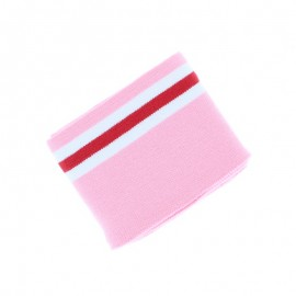 Poppy Striped Edging Fabric (135x7cm) - Light pink Bayadère